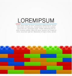 plastic building blocks wall vector image
