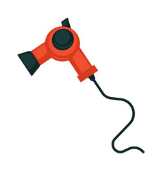 red and black hair dryer vector image