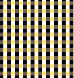 Seamless gingham pattern black yellow white and vector