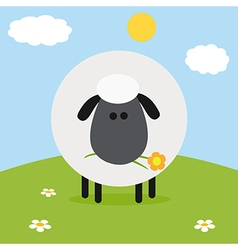 Sheep on a Farm Backdrop vector image vector image