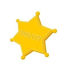 Sheriff star cartoon icon vector image vector image