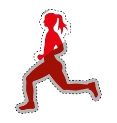 shoes running pictogram vector image vector image