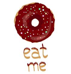 sweet donut vector image