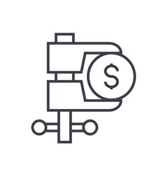 tax reduction linear icon sign symbol on vector image vector image