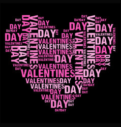 Valentines day black bg vector