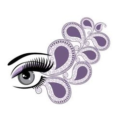 eyes floral vector image