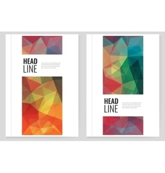 Abstract Triangle Brochure Flyer design template vector image