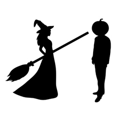 Beautiful melodies with a broom vector