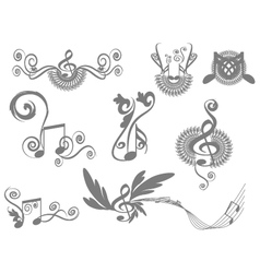 Music key notes vector