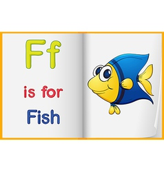 A picture of a fish in a book vector image