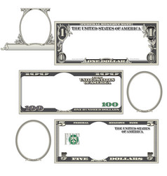 Stylized blank money vector