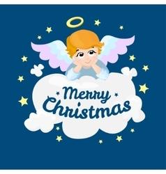 Baby angel cartoon character Merry vector image