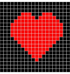 cross-stitch heart pattern vector image