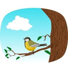 Bird on a tree vector