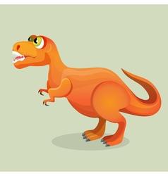Tyrannosaurus tyrant lizard isolated on white vector