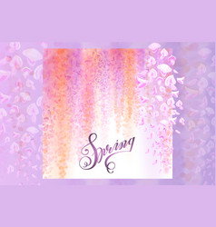 Spring background with blooming wisteria vector