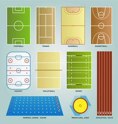 Sport field set vector