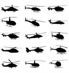 helicopter set vector image