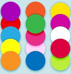 Colorful circles layered vector