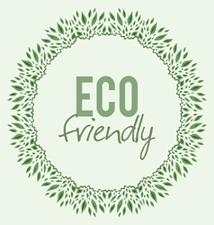 Ornament of leaves with ecological theme vector