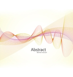 Abstract smoke wave background blend vector