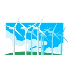Alternative energy wind power vector