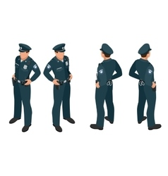 Policeman in uniform policeman icon policeman vector