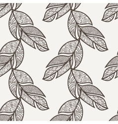 Seamless pattern of feathers doodle vector