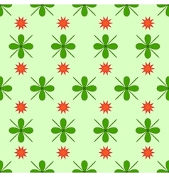 Star and flower seamless pattern vector image