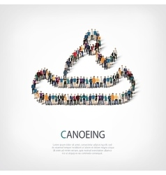 People sports canoeing vector