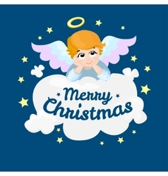 Baby angel cartoon character merry vector