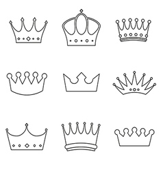 basic Crown icons design vector image vector image