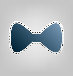 Bow tie icon blue icon with outline for vector