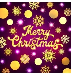 Christmas lettering inscription on Xmas background vector image