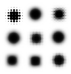 comic cartoon blot black shadows template vector image vector image