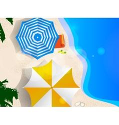 Couple of umbrellas vector image vector image