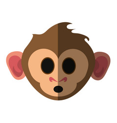 cute expressive monkey cartoon icon imag vector image vector image