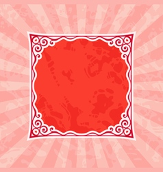 Decorative red vintage frame and background vector