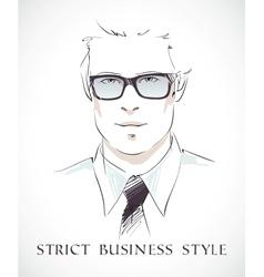 Fashion businessman portrait vector