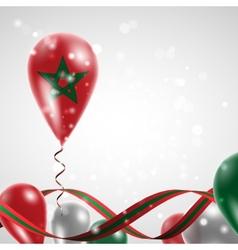 Flag of Morocco on balloon vector image