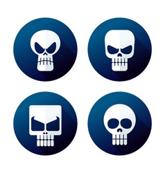 flat style skull icon vector image vector image