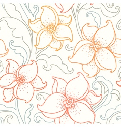flower pattern light vector image vector image