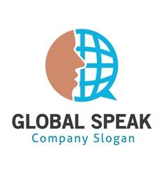 Global speak design vector