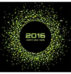 Green Bright New Year 2016 Background vector image vector image