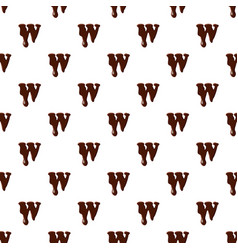 Letter w from latin alphabet made of chocolate vector