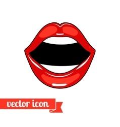 Lips icon 7 vector image vector image