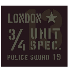 london military plate design vector image vector image