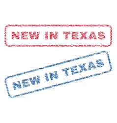 New in texas textile stamps vector