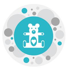 Of child symbol on teddy-bear vector