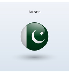 Pakistan round flag vector